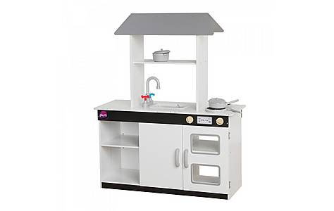 image of Plum Boston Wooden Role Play Kitchen With Accessories