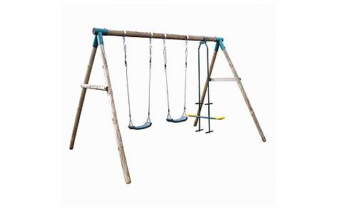 image of Plum Colobus Wooden Garden Swing Set