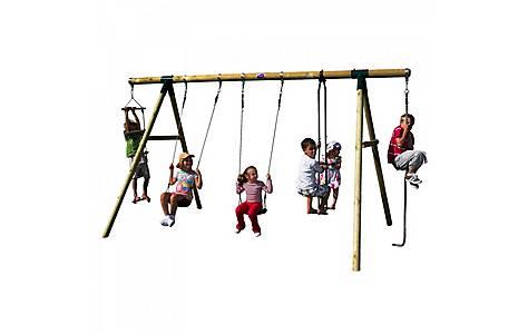 image of Plum Orang-utan Wooden Garden Swing Set