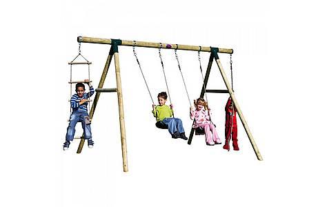 image of Plum Gibbon Wooden Garden Swing Set