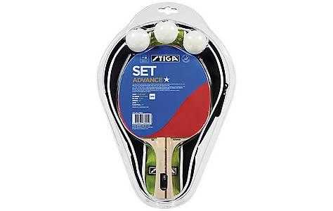 image of Stiga Bat Set Advance 1 Star + Cover + 3 Balls