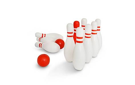 image of Buitenspeel Bowling Red And White