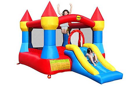 image of Large Turret Bouncy Castle With Slide