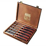 image of Bahco 424P-S6 Bevel Edge Chisels Set (6) in Wooden Box