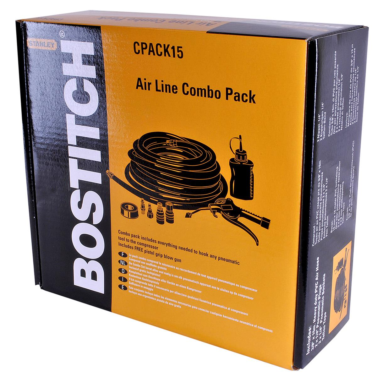 Bostitch CPACK15 15m Hose with Connectors & Oil lowest price