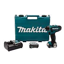 image of Makita DF031DWAE Drill Driver 10.8V CXT Cordless Li-ion (2 x 2.0Ah Batteries)