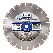 image of PDP DP16046 Diamond Blade P5-C12 300 x 20mm 5* General Purpose Building Material & Concrete