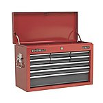 image of Sealey AP22509BB Topchest 9 Drawer With Ball Bearing Runners - Red/Grey