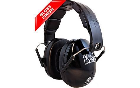 image of Edz Kidz Ear Defenders Black Gloss