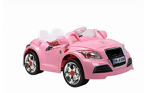 image of Kids Audi Style Cabriolet Electric Ride On Car Pink