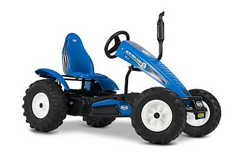 image of New Holland Bfr Tractor Pedal Go Kart Blue