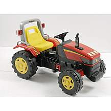 image of Red Super Pedal Powered Tractor