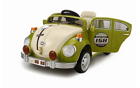 image of Retro Beetle Electric Ride On Car 6v