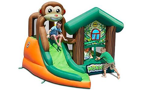 image of Monkey Jungle 10ft Bouncy Castle With Slide