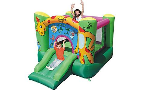 image of Giraffe 9ft Blow Up Bouncy Castle With Slide