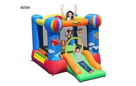 image of Hot Air Balloon Slide And Hoop Bouncy Castle