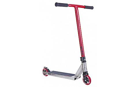 image of Crisp Inception Stunt Scooter - Silver / Red