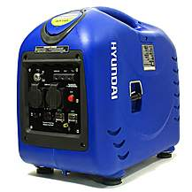 image of Hyundai 2800w Electric and Remote Start Petrol Inverter Generator HY3000SEi