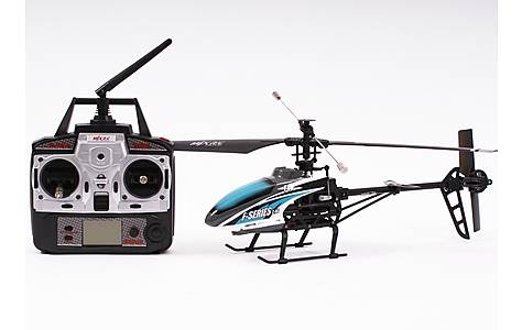 image of MJX F46 Single Rotor Helicopter Complete Blue 4 Ch 2.4GHz
