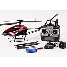 image of MJX F49 Single Rotor Helicopter Complete Red