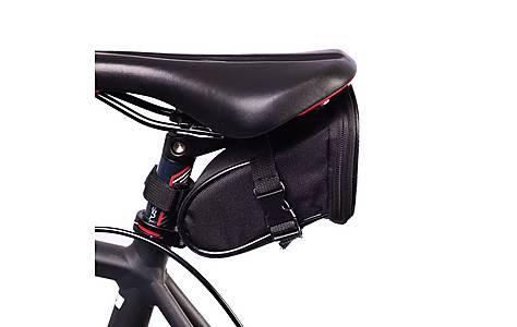 image of BTR Bike Saddle Wedge Pack Storage Bag. Water Resistant. Black