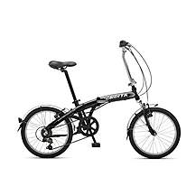 image of Orbita Evolution 7 Speed, 20 inch wheel aluminium folding bike with front suspension.