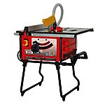 image of Lumberjack TS254PL 254mm Table saw with stand and extraction.