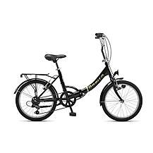 image of Orbita Eurobici 6 Speed Folding Bike with 20in Wheels - Black