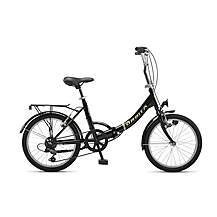 image of Orbita Eurobici 6 Speed Folding Bike with 20in Wheels - Black