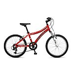 image of Orbita Shark 20in Wheel 6 Speed Lightweight Alloy Front Suspension Mountain Bike - Red