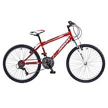 image of Saxon Victory Boys 24in Wheel Red 18 Speed Front Suspension MTB/ATB Mountain Bike
