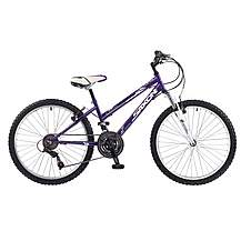 image of Saxon Victory Girls 24inch Wheel 18 Speed MTB/ATB Front Suspension Mountain Bike 14inch Frame