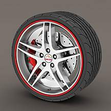 image of Alloy Wheel Rim Protectors Red