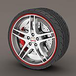 Alloy Wheel Rim Protectors Red