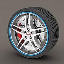 image of Alloy Wheel Rim Protectors Blue