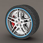 image of Alloy Wheel Rim Protectors Blue