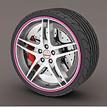 Alloy Wheel Rim Protectors Pink
