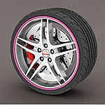image of Alloy Wheel Rim Protectors Pink