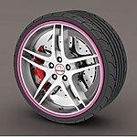 image of Alloy Wheel Rim Protectors Pink