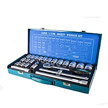 image of Hyundai 24pcs Universal Square Drive Socket Set K24