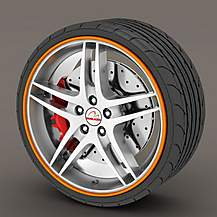 image of Alloy Wheel Rim Protectors Orange
