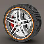 Alloy Wheel Rim Protectors Orange
