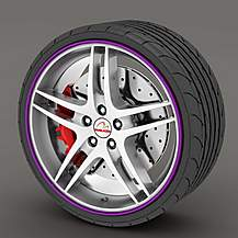 image of Alloy Wheel Rim Protectors Purple