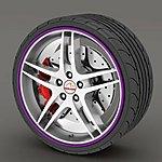 image of Alloy Wheel Rim Protectors Purple