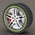 image of Alloy Wheel Rim Protectors Green