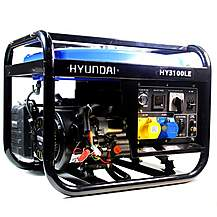 image of Hyundai 2.8kW Electric Start Petrol Generator HY3100LE