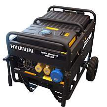 image of Hyundai 9.5kW Single Phase Electric Start Petrol Generator HY12000LE