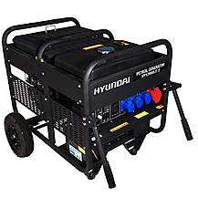 image of Hyundai 12.5kW Three Phase Electric Start Petrol Generator HY12000LE-3
