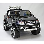 image of Kids Electric Car Ford Ranger 12 Volt Black Gloss