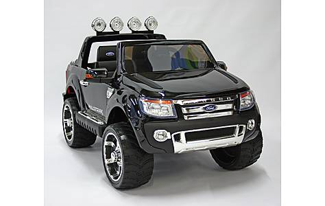 image of Kids Electric Car Ford Ranger 12 Volt Black Gloss